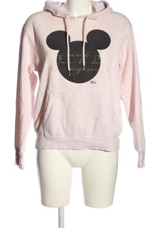 H&M L.O.G.G. Kapuzensweatshirt pink-schwarz Motivdruck Casual-Look