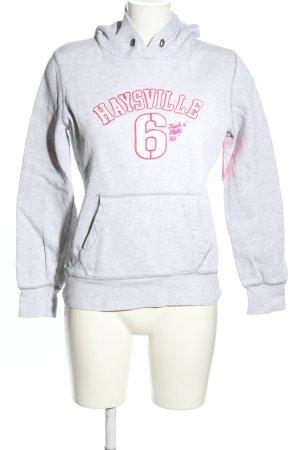 H&M L.O.G.G. Kapuzensweatshirt hellgrau-pink meliert Casual-Look