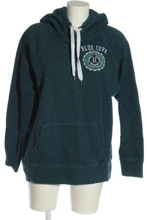 H&M L.O.G.G. Kapuzensweatshirt grün meliert Casual-Look