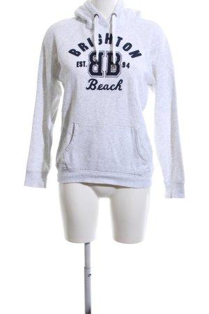 H&M L.O.G.G. Kapuzensweatshirt hellgrau-schwarz meliert Casual-Look
