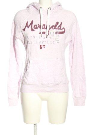 H&M L.O.G.G. Kapuzensweatshirt lila Schriftzug gedruckt sportlicher Stil