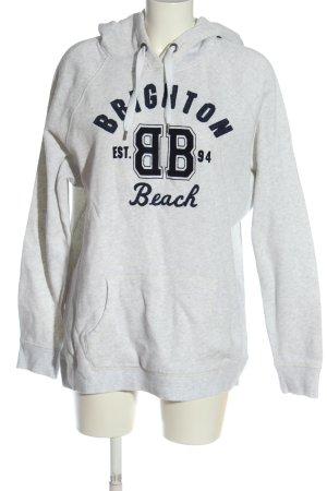 H&M L.O.G.G. Kapuzensweatshirt weiß-schwarz meliert Casual-Look