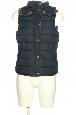 H&M L.O.G.G. Hooded Vest blue-brown quilting pattern casual look