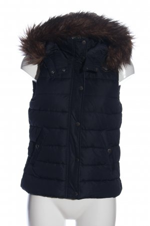 H&M L.O.G.G. Hooded Vest black quilting pattern casual look