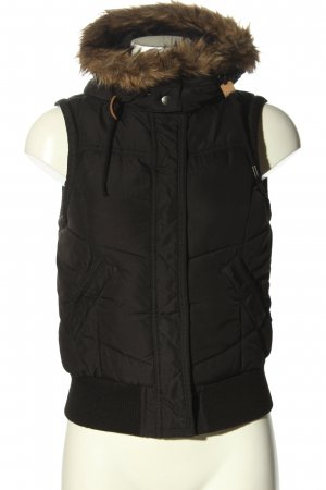 H&M L.O.G.G. Capuchon vest zwart casual uitstraling