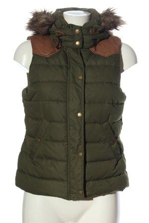 H&M L.O.G.G. Chaleco con capucha caqui estampado acolchado look casual
