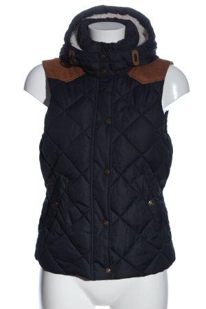 H&M L.O.G.G. Gilet à capuche noir-brun motif de courtepointe