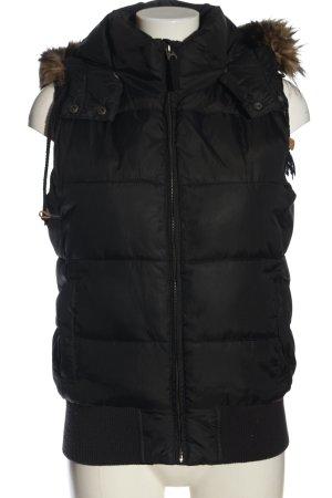 H&M L.O.G.G. Chaleco con capucha negro estampado acolchado look casual