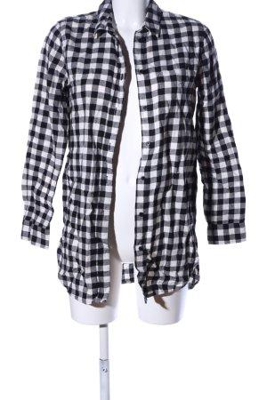 H&M L.O.G.G. Blusa a cuadros negro-blanco estampado a cuadros