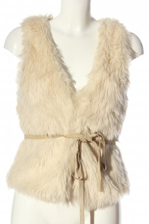 H&M L.O.G.G. Fake Fur Vest cream casual look
