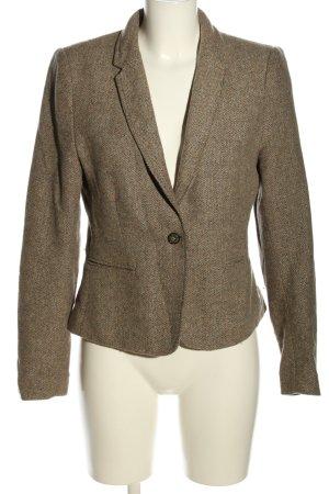 H&M L.O.G.G. Kurz-Blazer braun meliert Business-Look