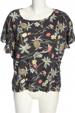 H&M L.O.G.G. Kurzarm-Bluse Allover-Druck Casual-Look