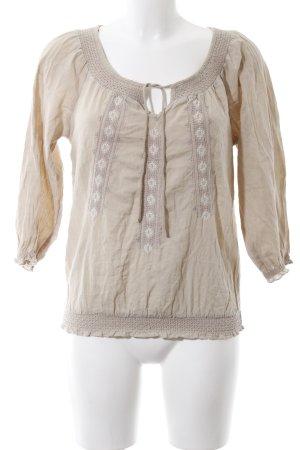 H&M L.O.G.G. Kurzarm-Bluse creme Elegant