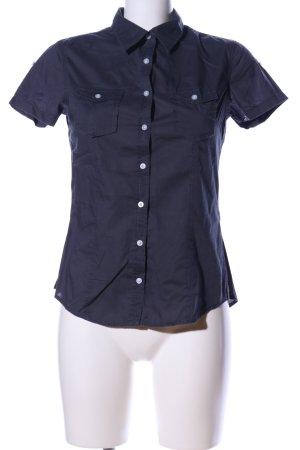 H&M L.O.G.G. Kurzarm-Bluse blau Casual-Look