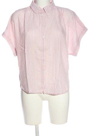 H&M L.O.G.G. Kurzarmhemd pink-weiß Streifenmuster Casual-Look