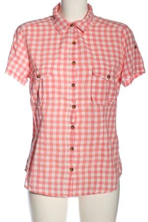 H&M L.O.G.G. Kurzarmhemd pink-wollweiß Allover-Druck Casual-Look