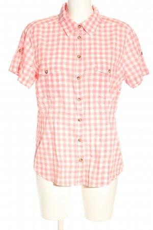 H&M L.O.G.G. Kurzarmhemd pink-weiß Allover-Druck Casual-Look