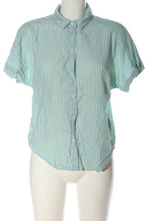 H&M L.O.G.G. Camisa de manga corta verde-blanco estampado a rayas look casual