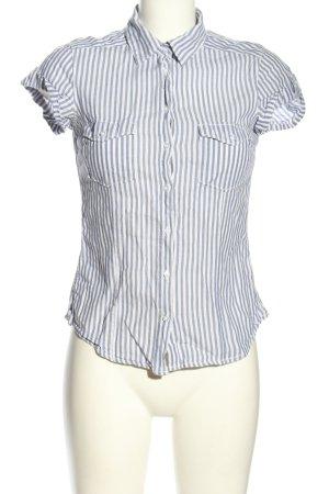 H&M L.O.G.G. Camisa de manga corta gris claro-blanco estampado a rayas
