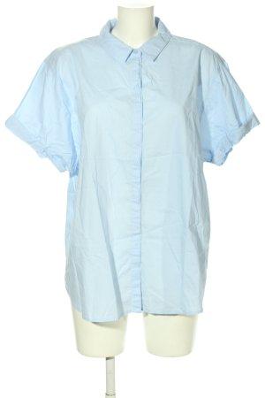 H&M L.O.G.G. Kurzarmhemd blau Business-Look