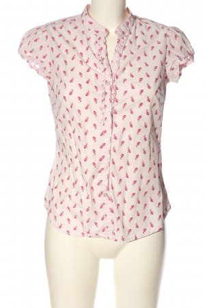 H&M L.O.G.G. Kurzarmhemd weiß-pink Allover-Druck Casual-Look