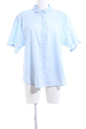 H&M L.O.G.G. Shirt met korte mouwen blauw zakelijke stijl