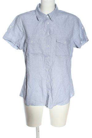 H&M L.O.G.G. Camicia a maniche corte blu-bianco motivo a righe stile casual