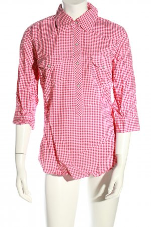 H&M L.O.G.G. Karobluse pink-weiß Allover-Druck Casual-Look