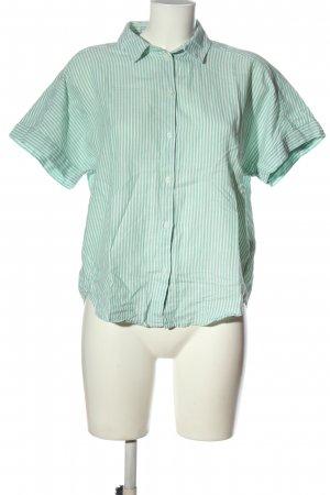 H&M L.O.G.G. Kurzarmhemd grün-weiß Streifenmuster Business-Look