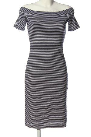 H&M L.O.G.G. Kurzarmkleid schwarz-weiß Streifenmuster Casual-Look
