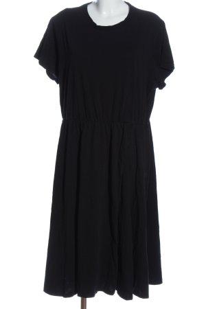 H&M L.O.G.G. Kurzarmkleid schwarz Elegant