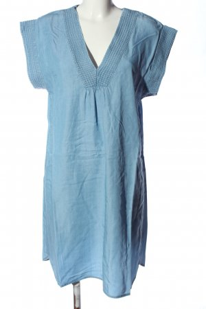 H&M L.O.G.G. Kurzarmkleid blau Casual-Look