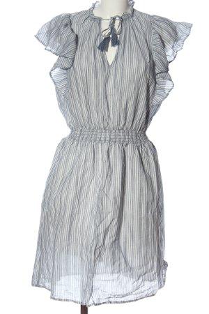 H&M L.O.G.G. Kurzarmkleid blau-weiß Streifenmuster Casual-Look