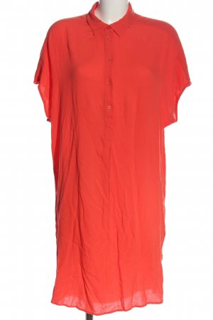 H&M L.O.G.G. Kurzarmkleid rot Casual-Look