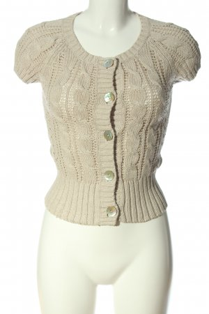 H&M L.O.G.G. Short Sleeve Knitted Jacket natural white casual look