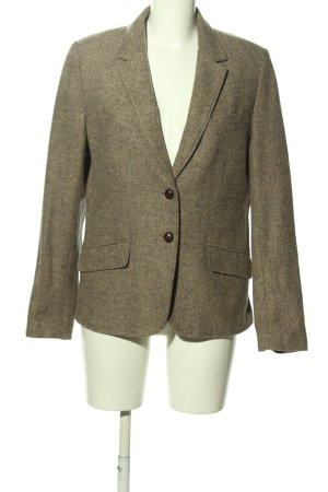 H&M L.O.G.G. Long-Blazer wollweiß-braun Business-Look