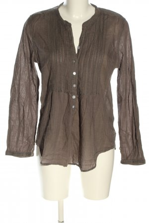 H&M L.O.G.G. Langarm-Bluse braun Casual-Look