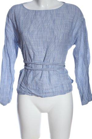 H&M L.O.G.G. Langarm-Bluse blau Streifenmuster Casual-Look