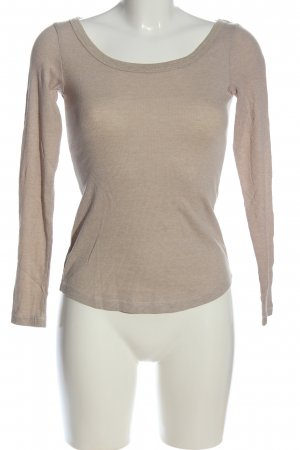 H&M L.O.G.G. Langarm-Bluse braun meliert Casual-Look