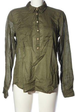 H&M L.O.G.G. Langarm-Bluse khaki Casual-Look