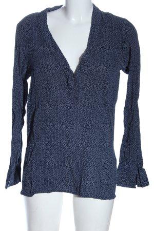 H&M L.O.G.G. Langarm-Bluse blau Allover-Druck Casual-Look