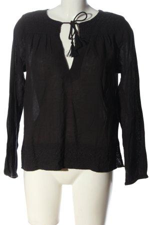 H&M L.O.G.G. Langarm-Bluse schwarz Casual-Look