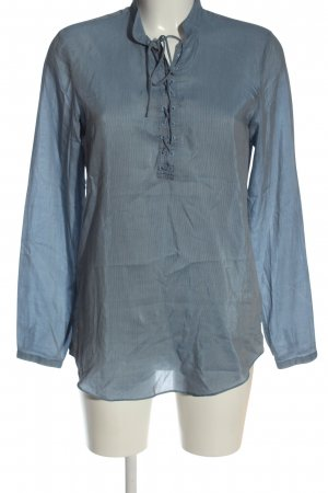 H&M L.O.G.G. Langarm-Bluse blau Streifenmuster Business-Look