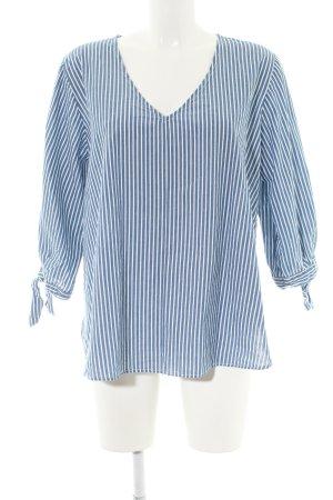 H&M L.O.G.G. Langarm-Bluse blau-weiß Streifenmuster Casual-Look