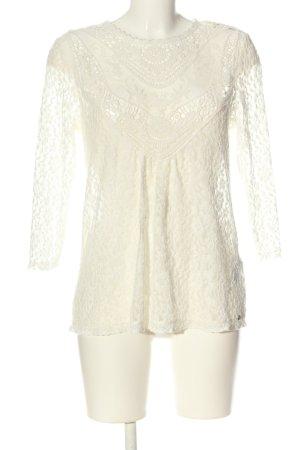 H&M L.O.G.G. Langarm-Bluse weiß Elegant