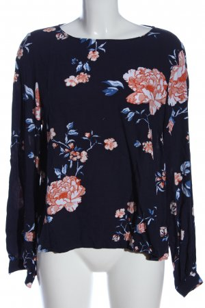 H&M L.O.G.G. Langarm-Bluse blau-pink Allover-Druck Casual-Look