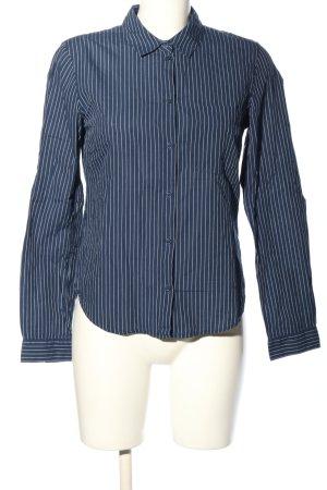 H&M L.O.G.G. Langarm-Bluse blau-weiß Streifenmuster Business-Look