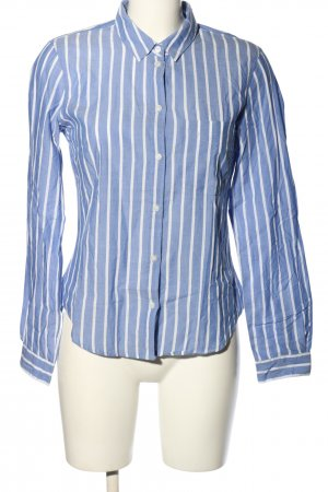 H&M L.O.G.G. Langarm-Bluse blau-weiß Allover-Druck Business-Look