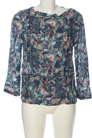 H&M L.O.G.G. Langarm-Bluse blau-rot Allover-Druck Casual-Look