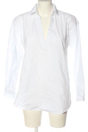 H&M L.O.G.G. Langarm-Bluse weiß Business-Look